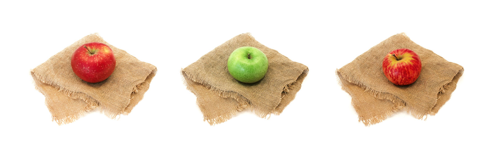 apples-on-mats-white-background