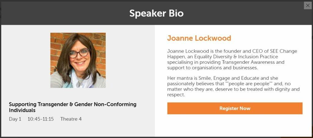 Joanne Lockwood's Speaker Profile