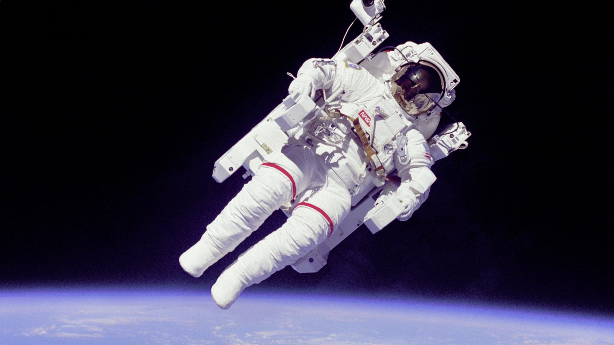 Astronataut Floating all alone in Space