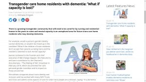 Trans care home residents with dementia – what if capacity is lost