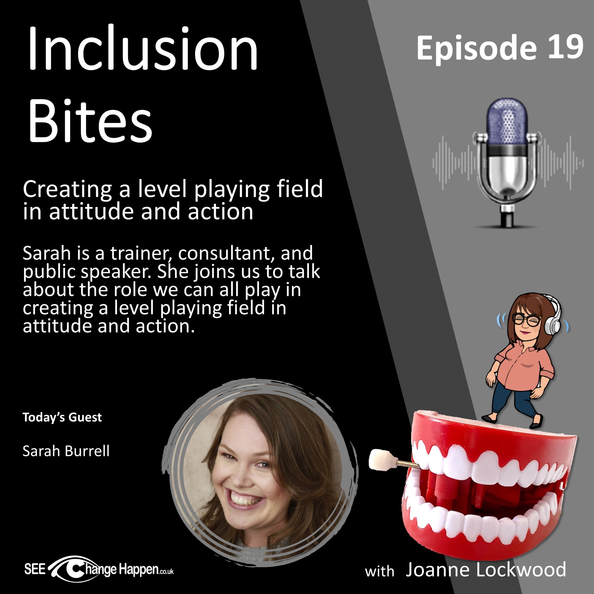 Ep19. Creating a level playing field in attitude and action with Sarah Burrell-square (Custom)
