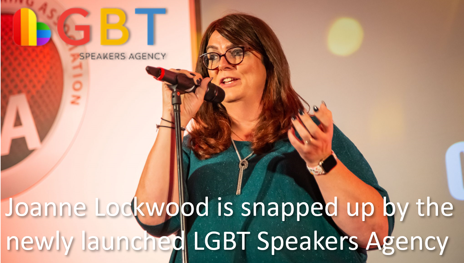Joanne Lockwood is snapped up by the newly launched LGBT Speakers Agency